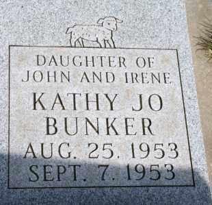 BUNKER, KATHY JO - Lyman County, South Dakota | KATHY JO BUNKER - South Dakota Gravestone Photos
