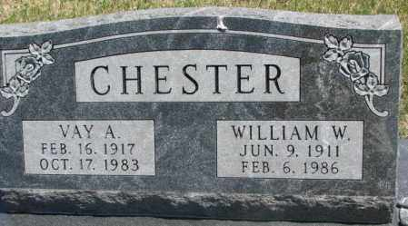 CHESTER, WILLIAM W. - Lyman County, South Dakota | WILLIAM W. CHESTER - South Dakota Gravestone Photos