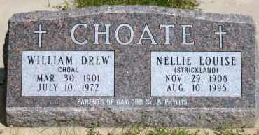 CHOATE, WILLIAM DREW - Lyman County, South Dakota | WILLIAM DREW CHOATE - South Dakota Gravestone Photos