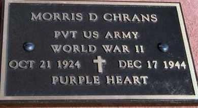 CHRANS, MORRIS D - Lyman County, South Dakota   MORRIS D CHRANS - South Dakota Gravestone Photos