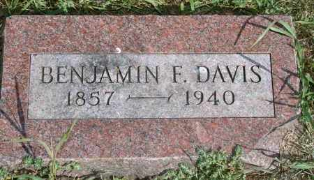 DAVIS, BENJAMIN F - Lyman County, South Dakota | BENJAMIN F DAVIS - South Dakota Gravestone Photos