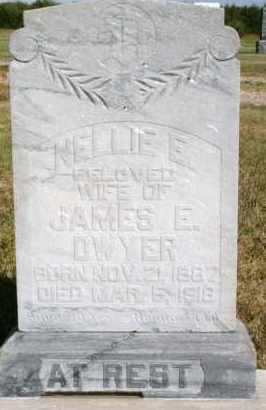DWYER, NELLIE E - Lyman County, South Dakota   NELLIE E DWYER - South Dakota Gravestone Photos
