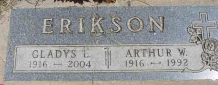 ERIKSON, ARTHUR W. - Lyman County, South Dakota | ARTHUR W. ERIKSON - South Dakota Gravestone Photos