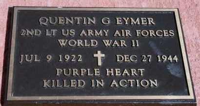 EYMER, QUENTIN G - Lyman County, South Dakota | QUENTIN G EYMER - South Dakota Gravestone Photos
