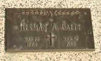 GAEDE, HERMAN A - Lyman County, South Dakota | HERMAN A GAEDE - South Dakota Gravestone Photos
