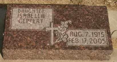 GEPPERT, ISABELLA - Lyman County, South Dakota   ISABELLA GEPPERT - South Dakota Gravestone Photos