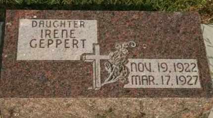 GEPPERT, IRENE - Lyman County, South Dakota | IRENE GEPPERT - South Dakota Gravestone Photos