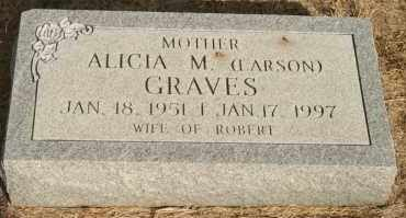 LARSON GRAVES, ALICIA M - Lyman County, South Dakota | ALICIA M LARSON GRAVES - South Dakota Gravestone Photos
