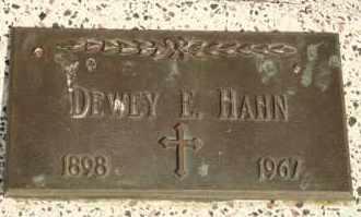 HAHN, DEWEY E - Lyman County, South Dakota   DEWEY E HAHN - South Dakota Gravestone Photos