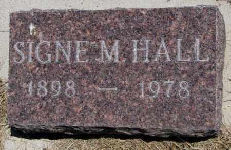 HALL, SIGNE M. - Lyman County, South Dakota | SIGNE M. HALL - South Dakota Gravestone Photos