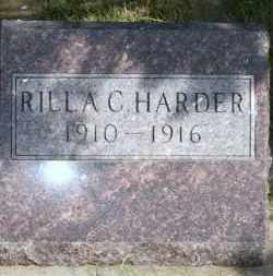 HARDER, RILLA C - Lyman County, South Dakota | RILLA C HARDER - South Dakota Gravestone Photos