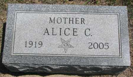 HENDRICKS, ALICE C. - Lyman County, South Dakota | ALICE C. HENDRICKS - South Dakota Gravestone Photos