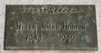 HODGIN, HELEN JOANN - Lyman County, South Dakota | HELEN JOANN HODGIN - South Dakota Gravestone Photos