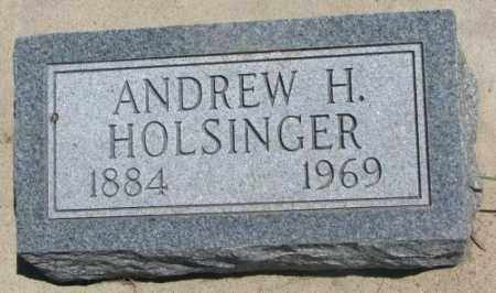 HOLSINGER, ANDREW H. - Lyman County, South Dakota | ANDREW H. HOLSINGER - South Dakota Gravestone Photos