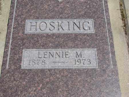 HOSKING, LENNIE M. - Lyman County, South Dakota | LENNIE M. HOSKING - South Dakota Gravestone Photos