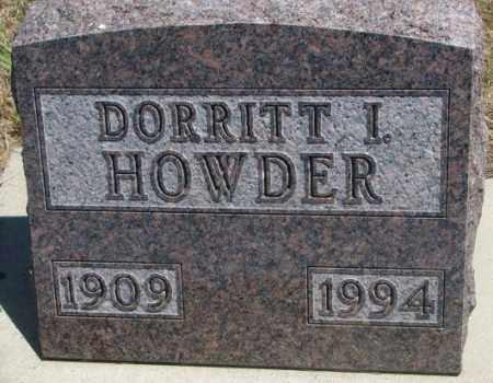HOWDER, DORRITT L. - Lyman County, South Dakota | DORRITT L. HOWDER - South Dakota Gravestone Photos