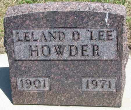 "HOWDER, LELAND D. ""LEE"" - Lyman County, South Dakota 