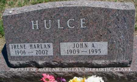 HARLAN HULCE, IRENE - Lyman County, South Dakota | IRENE HARLAN HULCE - South Dakota Gravestone Photos