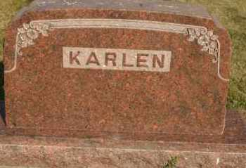 KARLEN, FAMILY - Lyman County, South Dakota | FAMILY KARLEN - South Dakota Gravestone Photos