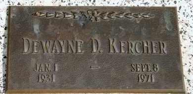 KERCHER, DEWAYNE D - Lyman County, South Dakota | DEWAYNE D KERCHER - South Dakota Gravestone Photos