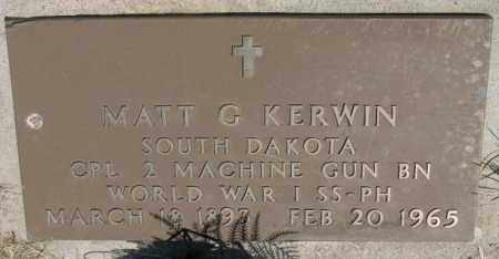 KERWIN, MATT G. - Lyman County, South Dakota | MATT G. KERWIN - South Dakota Gravestone Photos