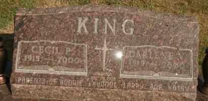 KING, CECIL P - Lyman County, South Dakota   CECIL P KING - South Dakota Gravestone Photos