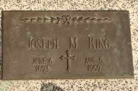 KING, JOSEPH M - Lyman County, South Dakota | JOSEPH M KING - South Dakota Gravestone Photos