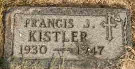 KISTLER, FRANCIS J - Lyman County, South Dakota | FRANCIS J KISTLER - South Dakota Gravestone Photos
