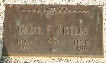 KISTLER, GRACE E - Lyman County, South Dakota | GRACE E KISTLER - South Dakota Gravestone Photos