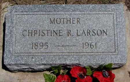 LARSON, CHRISTINE R. - Lyman County, South Dakota | CHRISTINE R. LARSON - South Dakota Gravestone Photos