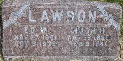 LAWSON, HUGH H - Lyman County, South Dakota   HUGH H LAWSON - South Dakota Gravestone Photos