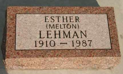 MELTON LEHMAN, ESTHER - Lyman County, South Dakota | ESTHER MELTON LEHMAN - South Dakota Gravestone Photos