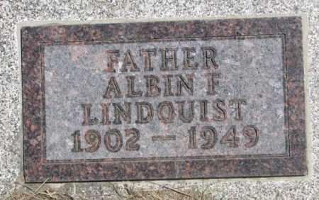 LINDQUIST, ALBIN F. - Lyman County, South Dakota | ALBIN F. LINDQUIST - South Dakota Gravestone Photos