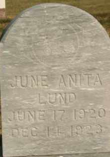 LUND, JUNE ANITA - Lyman County, South Dakota   JUNE ANITA LUND - South Dakota Gravestone Photos