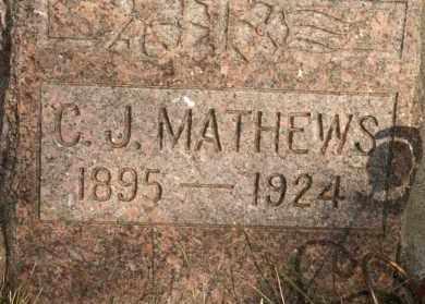 MATHEWS, C J - Lyman County, South Dakota | C J MATHEWS - South Dakota Gravestone Photos