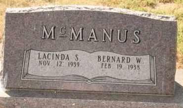 MCMANUS, BERNARD W - Lyman County, South Dakota | BERNARD W MCMANUS - South Dakota Gravestone Photos
