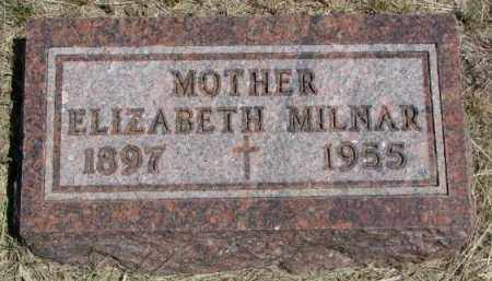 MILNAR, ELIZABETH - Lyman County, South Dakota | ELIZABETH MILNAR - South Dakota Gravestone Photos