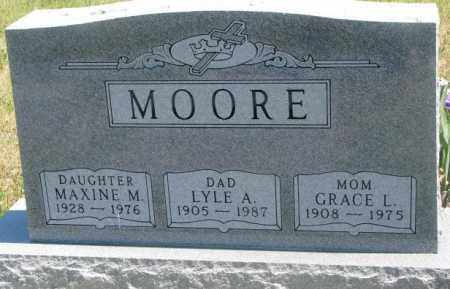 MOORE, GRACE L. - Lyman County, South Dakota | GRACE L. MOORE - South Dakota Gravestone Photos