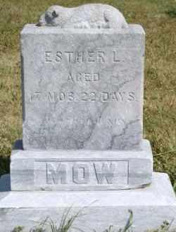 MOW, ESTHER L - Lyman County, South Dakota | ESTHER L MOW - South Dakota Gravestone Photos