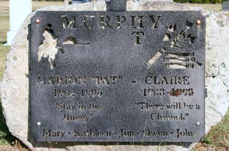 MURPHY, CLAIRE - Lyman County, South Dakota | CLAIRE MURPHY - South Dakota Gravestone Photos