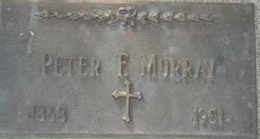MURRAY, PETER F - Lyman County, South Dakota | PETER F MURRAY - South Dakota Gravestone Photos