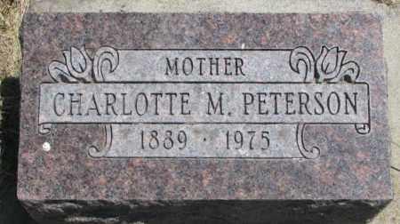 PETERSON, CHARLOTTE M. - Lyman County, South Dakota | CHARLOTTE M. PETERSON - South Dakota Gravestone Photos