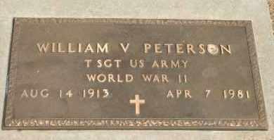 PETERSON, WILLIAM V - Lyman County, South Dakota | WILLIAM V PETERSON - South Dakota Gravestone Photos