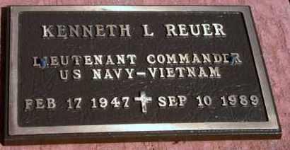 REUER, KENNETH L - Lyman County, South Dakota | KENNETH L REUER - South Dakota Gravestone Photos