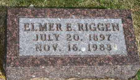 RIGGEN, ELMER E - Lyman County, South Dakota | ELMER E RIGGEN - South Dakota Gravestone Photos