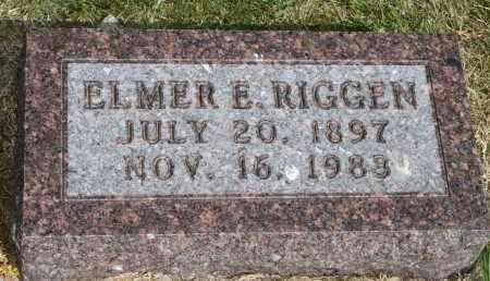 RIGGEN, ELMER E - Lyman County, South Dakota | ELMER E RIGGEN - South Dakota Gravestone Photos