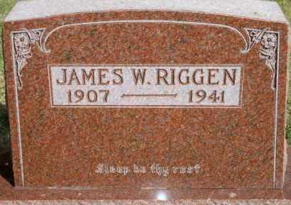 RIGGEN, JAMES W - Lyman County, South Dakota | JAMES W RIGGEN - South Dakota Gravestone Photos
