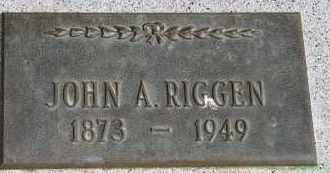 RIGGEN, JOHN A - Lyman County, South Dakota | JOHN A RIGGEN - South Dakota Gravestone Photos