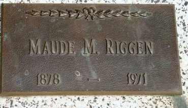 RIGGEN, MAUDE M - Lyman County, South Dakota   MAUDE M RIGGEN - South Dakota Gravestone Photos