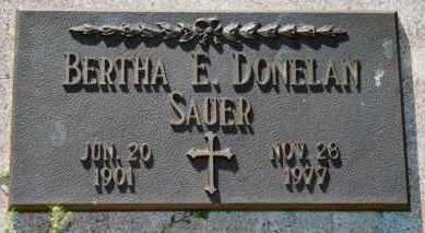 SAUER, BERTHA E - Lyman County, South Dakota | BERTHA E SAUER - South Dakota Gravestone Photos